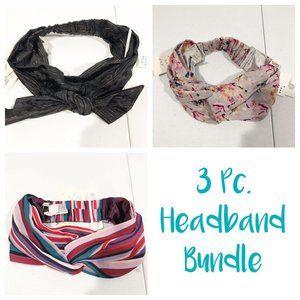 A New Day | 3 Piece Headband Floral Stripe Bundle